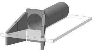 Откосная стенка для прямоугольных труб СТ-2 л/п
