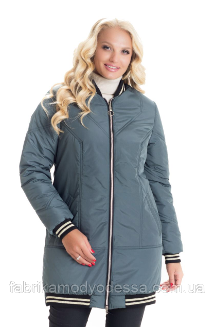 299098d4912 Демисезонная куртка женская весна-осень деми в большом размере недорого  Украина р. 42-
