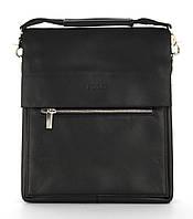 Удобная прочная вместительная мужская сумка с качественной эко кожи POLO art. 310-4 черный, фото 1