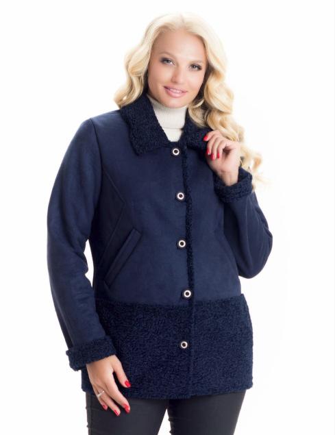Демисезонная куртка-дубленка женская весна-осень деми в большом размере недорого Украина р. 44-54
