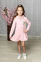 Красивое платье на девочку,  украшено стрекозкой из пайетки., фото 1