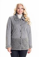 Демисезонная куртка-дубленка женская весна-осень деми в большом размере недорого Украина р. 44-56