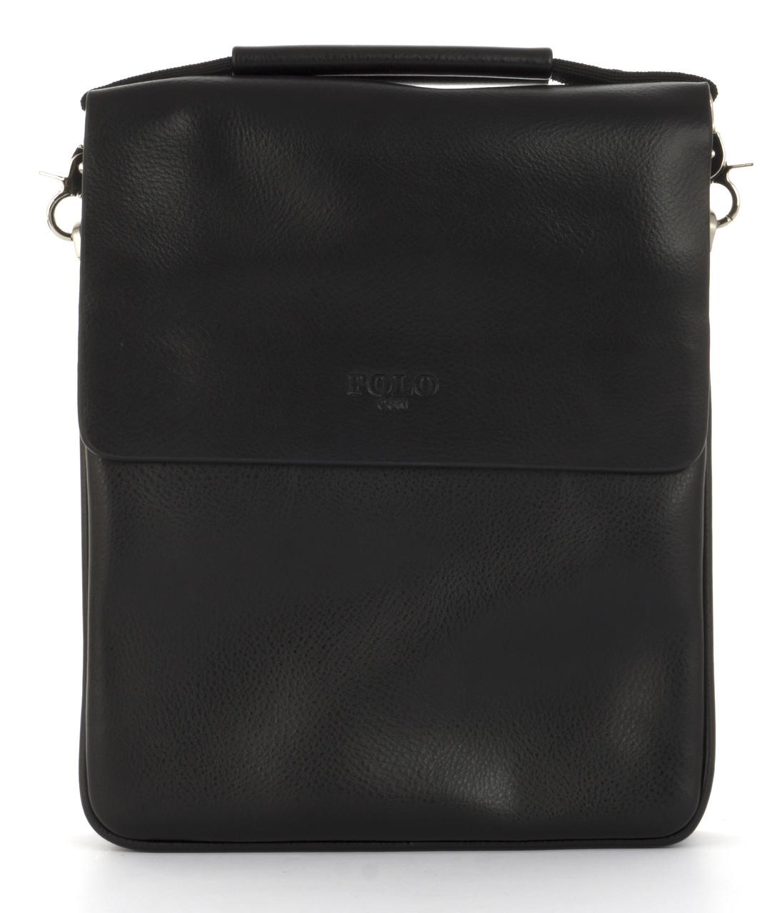 Удобная прочная вместительная мужская сумка с качественной эко кожи POLO art. 3389-3