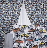 Комплект готовых штор для детской комнаты. Код 161ш 2 шторы шириной по 1.5м.