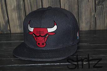 Снепбек Chicago Bulls черного цвета (люкс копия)