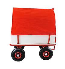 Тачка Садова на 4-х колесах Візок з тентом, фото 2