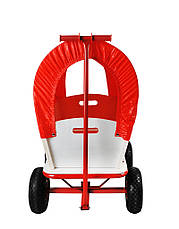 Тачка Садова на 4-х колесах Візок з тентом, фото 3