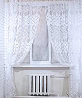 Комплект штор из органзы, цвет белый.