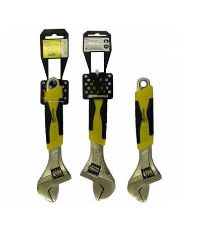 Ключ разводной Сталь, ручка ПВХ 200мм, фото 2
