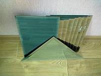 Плитка зеркальная треугольник зеленая, бронза, графит 400мм фацет.зеркальная плитка.плитка треугольная.