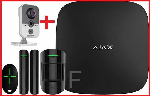 Комплект беспроводной сигнализации Ajax StarterKit (Black) + IP камера  Hikvision DS-2CD2420F-IW (2.8 мм)