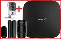 Комплект беспроводной сигнализации Ajax StarterKit (Black) + IP камера  Hikvision DS-2CD2420F-IW (2.8 мм), фото 1