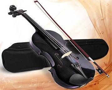 Скрипка Классическая 4/4 Чёрный цвет + кейс (3 цвета), фото 2
