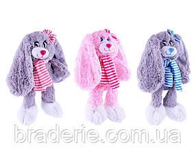 Мягкая игрушка Заяц ушастый с шарфом 30158 23см
