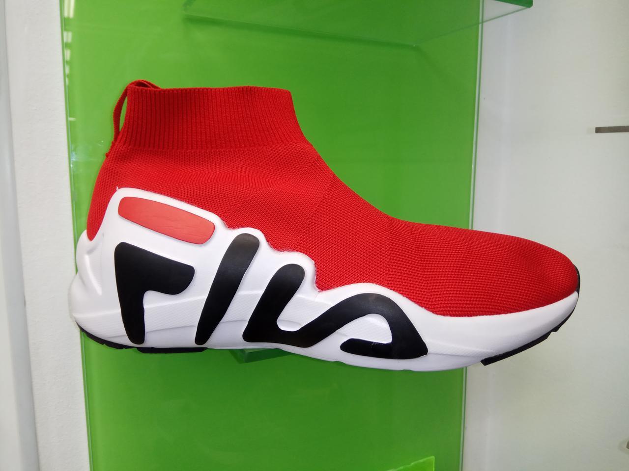 Женские сникерсы Fila red & white
