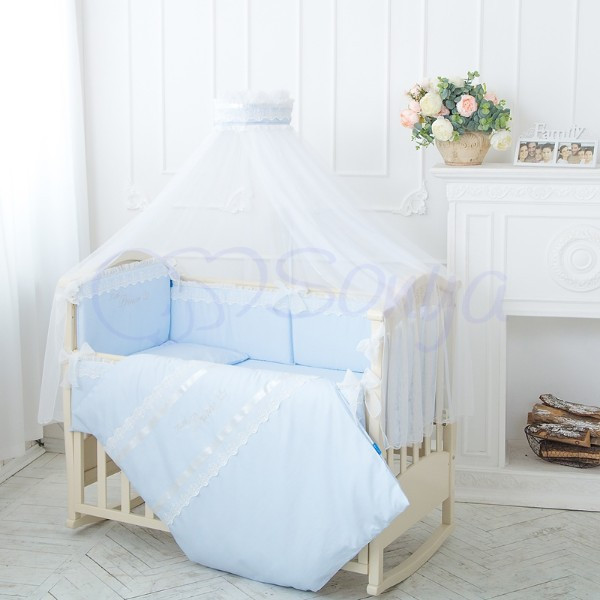 Комплект постельного белья Принц голубой