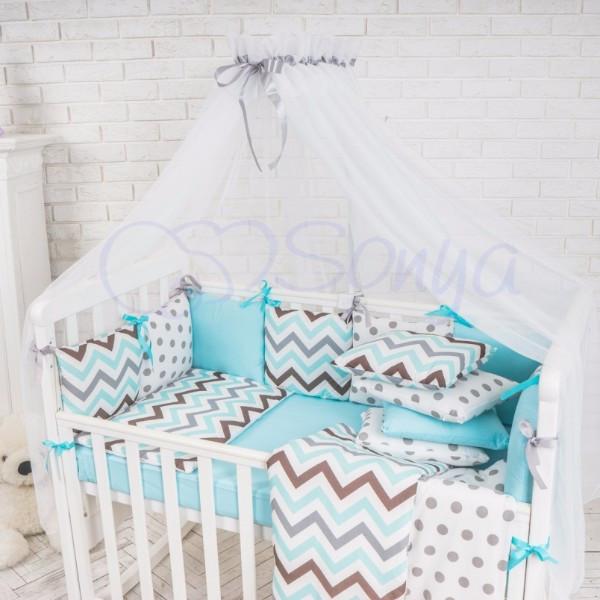 Балдахин Baby Design белый с серым