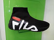 Жіночі снікерси Fila black & white