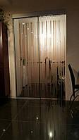 Стеклянная раздвижная дверь (стекло бронза с рисунком), фото 1