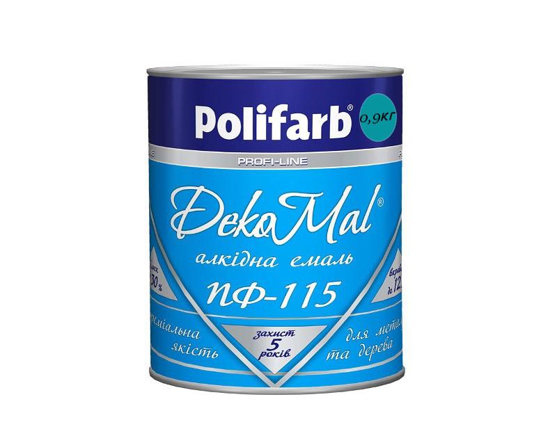 Эмаль алкидная POLIFARB ПФ-115 DEKOMAL универсальна, ярко-голубая, 0,9кг