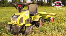 FALK Трактор ходунки Claas с прицепом, фото 2