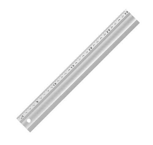 Лінійка будівельна алюмінієва Світязь, 300мм, фото 2