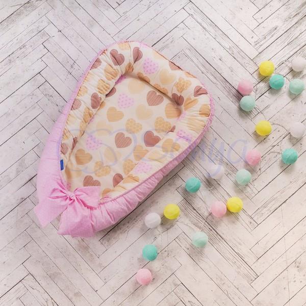 Кокон Baby Design Ванильные сердечки
