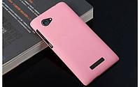 Пластиковый чехол для Lenovo A880 розовый, фото 1