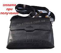 fb0ba8d27654 Promo Мужская кожаная брендовая сумка через плечо для документов А4  портфель POLO