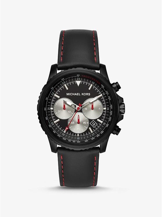 Часы мужские Michael KorsTheroux Black-Tone and Leather  MK8647