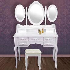Туалетный стол Triada 90см с зеркалами и табуретом, фото 3