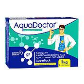 Флокулянт Aquadoctor SF superflok в картушах от мутной воды в бассейне, 1 кг