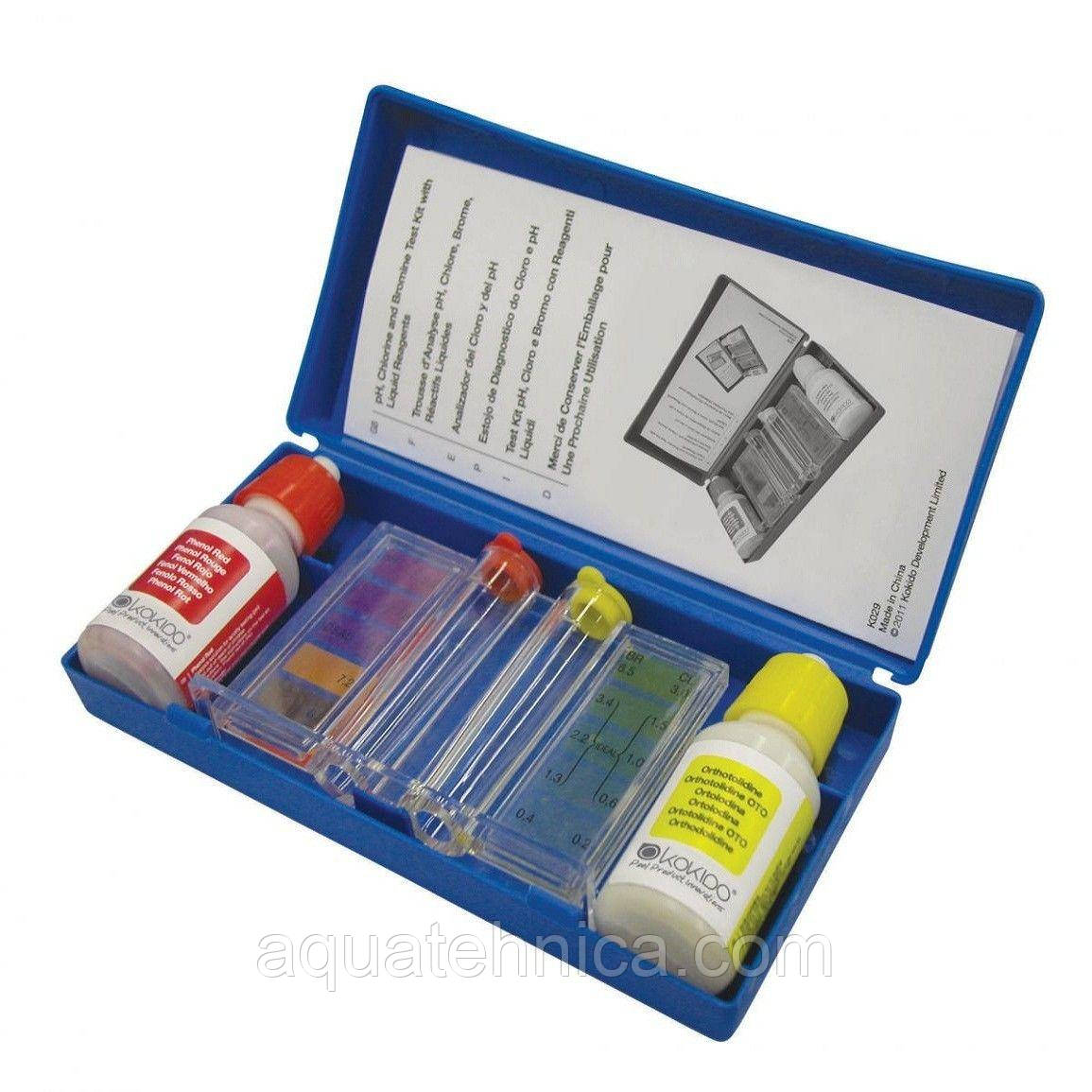 Крапельний тестер для басейну pH і Cl/Br Kokido K029
