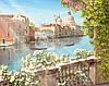 Фотоплитка Панно Венеция - керамическая плитка фреска Венеция вид с балкона