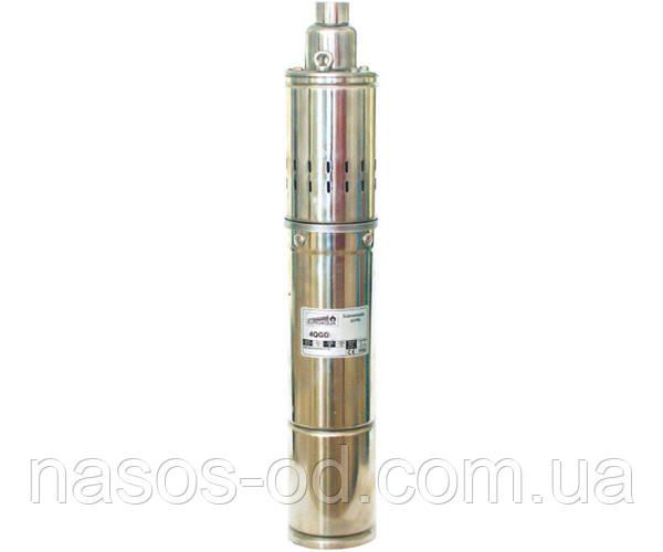 Насос шнековый глубинный Euroaqua 4QGD 1.2-50-0.37 для скважин 0.37кВт Hmax97м Qmax25л/мин Ø92мм (кабель 10м)