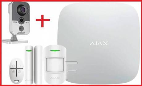 Комплект беспроводной сигнализации Ajax StarterKit Original + IP камера  Hikvision DS-2CD2420F-IW