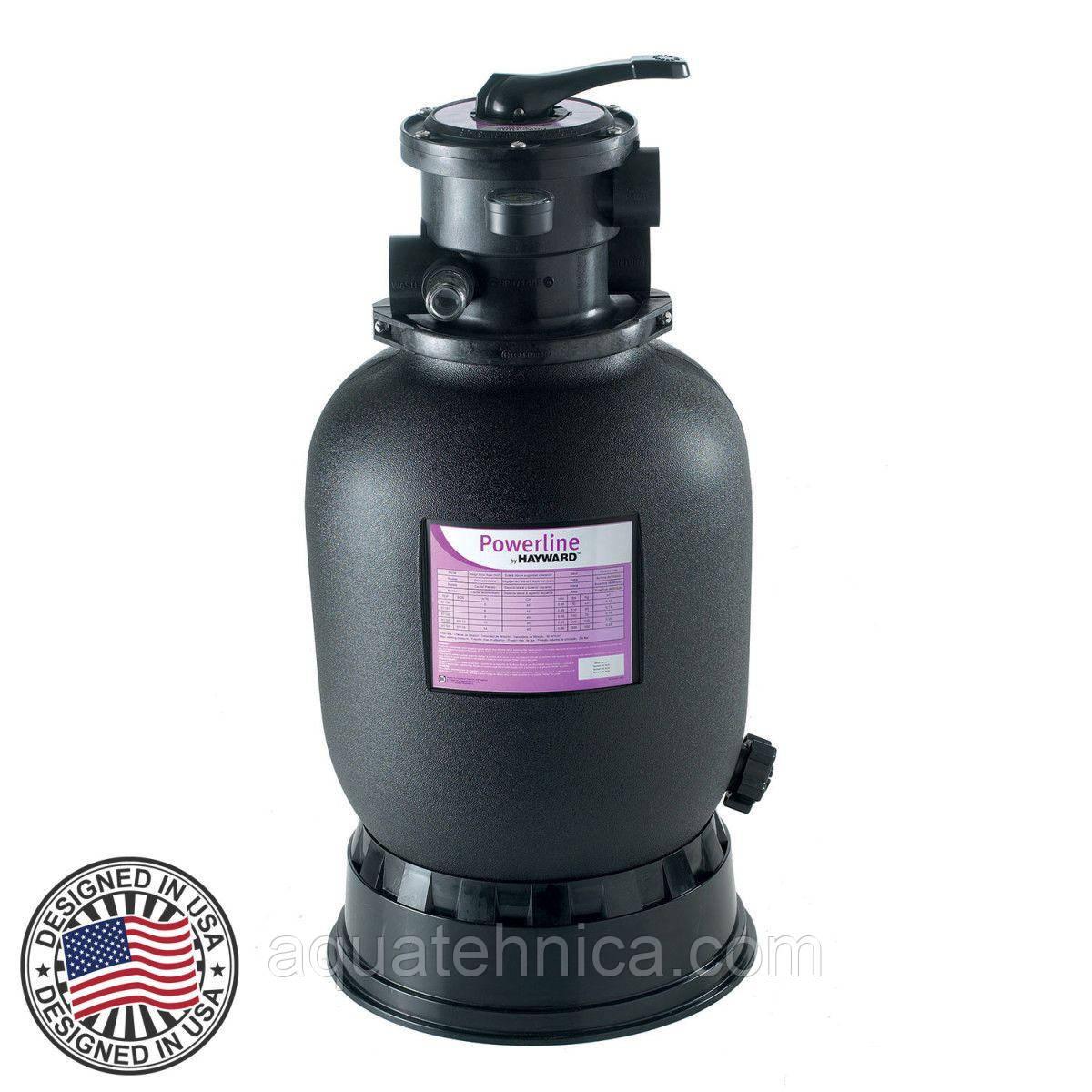 Пісочний фільтр для басейну Hayward PowerLine 81100 D368мм, 5м3\год, верхнє підключення