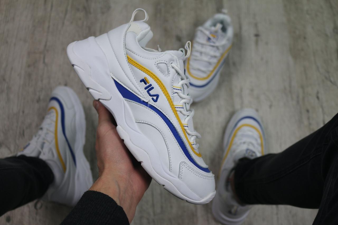Мужские кроссовки Fila Ray (white), кроссовки Fila Ray, мужские белые кроссовки фила рей