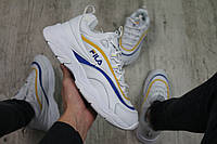 Мужские кроссовки Fila Ray (white), кроссовки Fila Ray, мужские белые кроссовки фила рей, фото 1
