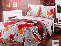 Сатиновое постельное белье полуторка ELWAY 3780