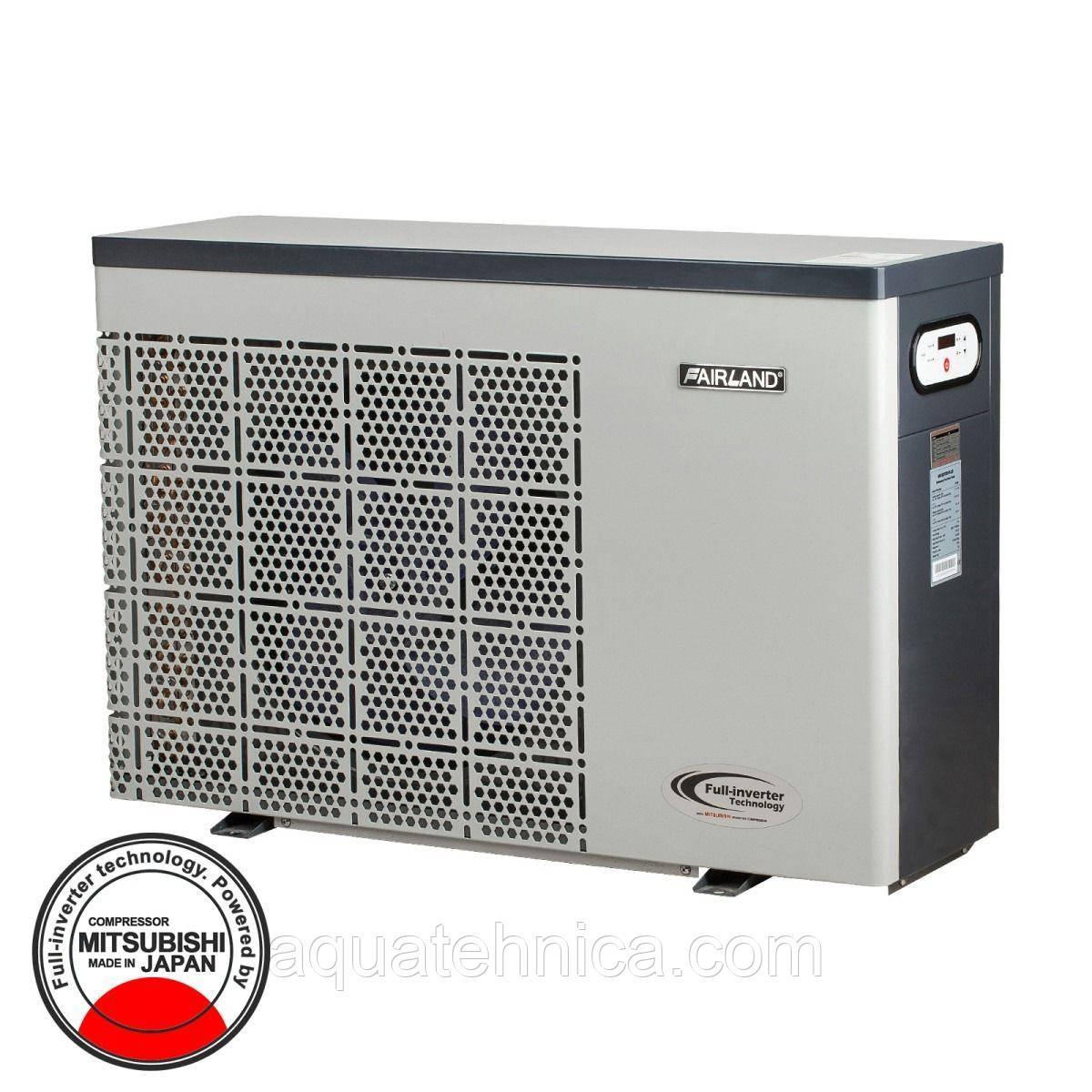 Насос инверторный тепловой Fairland IPHC55, тепло и охлождение теплой воды