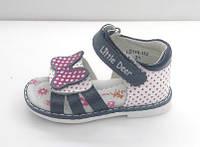 Детские кожаные босоножки B&G для девочек р. 23, 25, фото 1