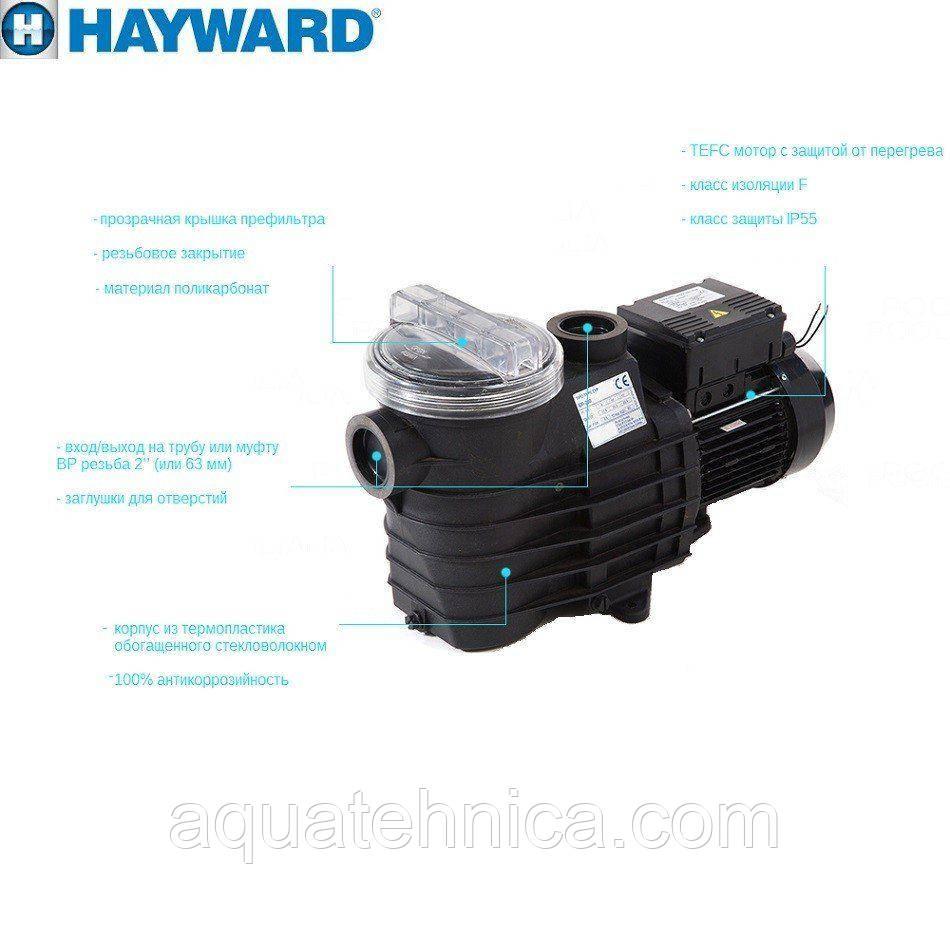 Насос Hayward SP2515XE221 EP 150 (220В, 21.9 м3/год, 1.5 HP)