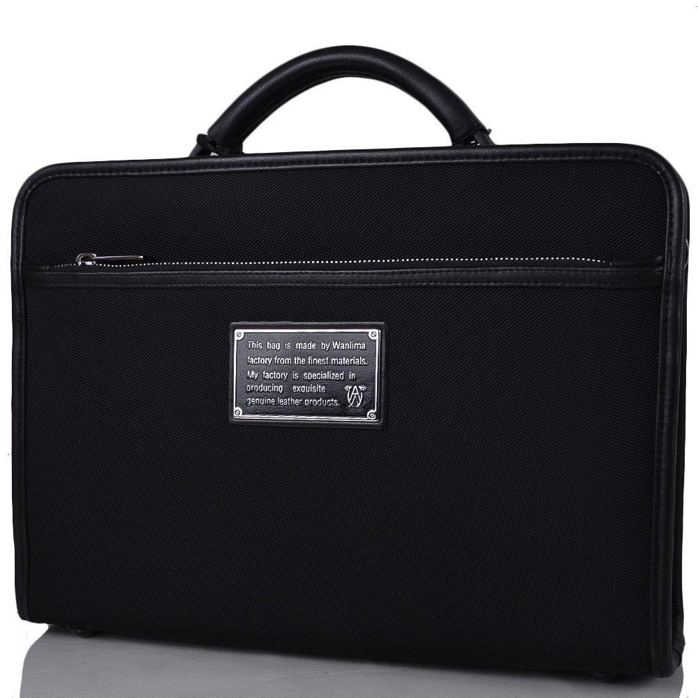 3d85e49a7fc8 Портфель Wanlima Портфель кожаный мужской WANLIMA (ВАНЛИМА)  W50011680095-black - LOOK в Днепре
