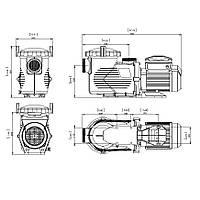 Насос для бассейна Emaux EPV300 (220В, 34.5м³/час, 3HP) с пер. скор, фото 1