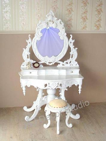 Туалетка с зеркалом и табуретом ЧЕРВОНЕ ДЕРЕВО, фото 2