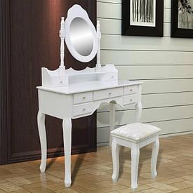 Туалетный стол Rozalia 93см с зеркалом и табуретом