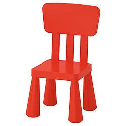 IKEA MAMMUT (403.653.66) Детский стул, красный