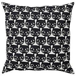 IKEA GERDIE (604.106.31) Подушка, белый, черный кот