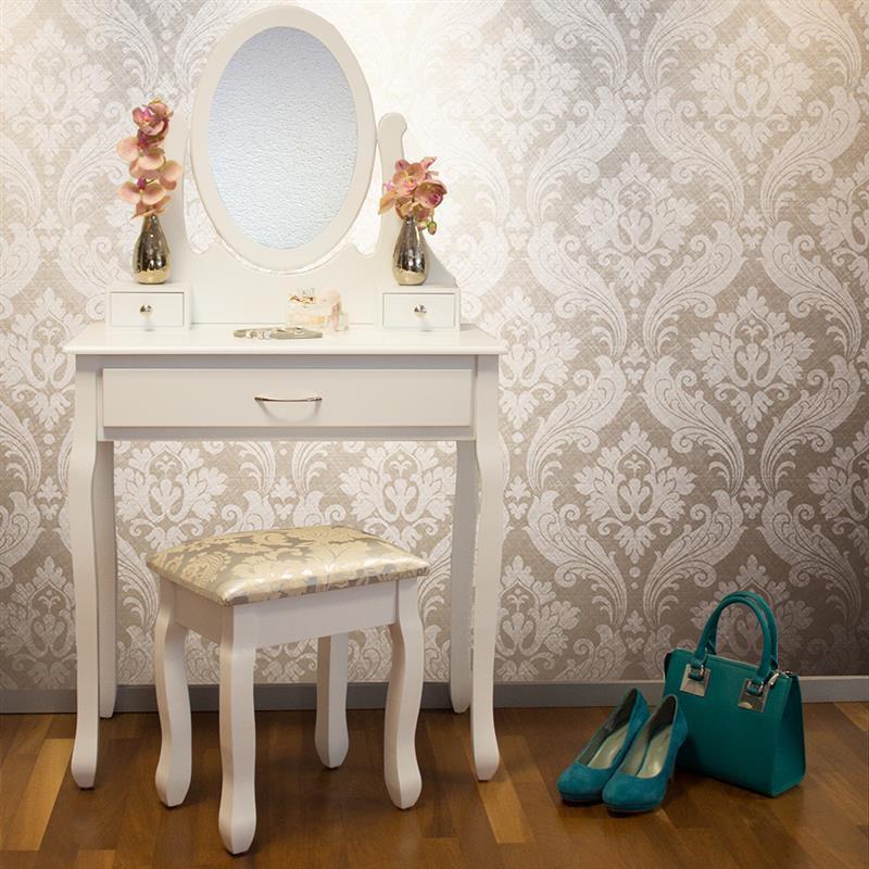 Туалетний стіл Helena 75 см з табуретом і дзеркалом